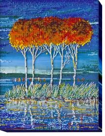 Набор для вышивки бисером Огненная лазурь 3, , 574.00грн., АВ-487, Абрис Арт, Картины из нескольких частей