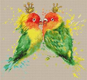 Набор для вышивки крестом Попугаи