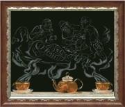 Набор для вышивки крестом Чайная фантазия - охотники на привале