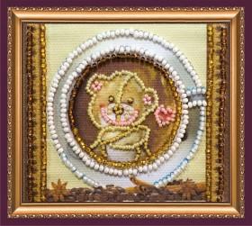 Набор -магнит для вышивки бисером Мишкина улыбка