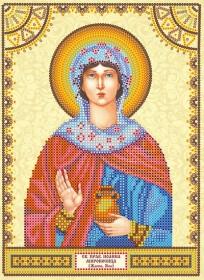 Схема для вышивки бисером на холсте Святая Иоанна (Жанна, Яна)
