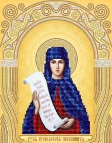 Схема вышивки бисером на атласе Преподобная Аполлинария (Полина)