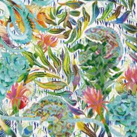 Схема вышивки бисером на атласе Джунгли