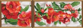 Набор для вышивки крестом Гранатовая ветвь, , 300.00грн., СВ6585, Новая Слобода (Нова слобода), Картины из нескольких частей