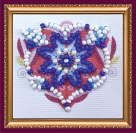 Набор - магнит для вышивки бисером Символ любви