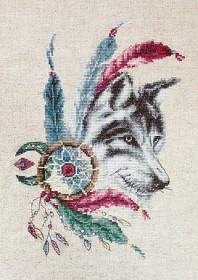 Набор для вышивки крестом Волк