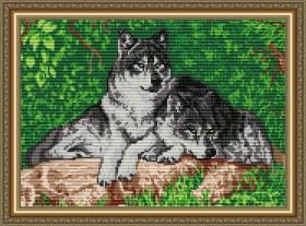 Набор для выкладки в алмазной технике Волки, , 400.00грн., АТ3005, Art Solo, Алмазная мозаика