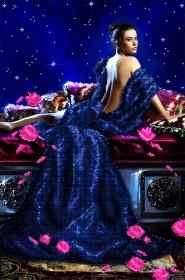 Схема вышивки бисером на атласе Созвездие любви