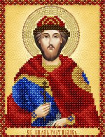 Схема вышивки бисером на атласе Св. князь Ростислав