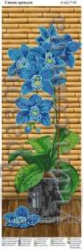 Схема вышивки бисером на атласе Панно Орхидея синяя