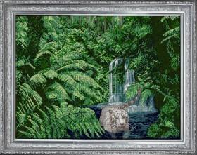 Набор для вышивки бисером Белый тигр, , 1 461.00грн., 40213, Краса и творчiсть, Большие наборы