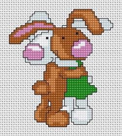 Набор для вышивки крестом Зайцы, , 23.00грн., В040, Luca-S, Детские наборы для вышивки бисером и крестом