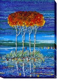 Набор для вышивки бисером Огненная лазурь 2, , 524.00грн., АВ-486, Абрис Арт, Картины из нескольких частей