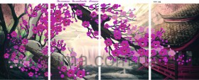 Схема вышивки бисером на атласе Волшебство Японии Полиптих, , 150.00грн., ЮМА-418, Юма, Картины из нескольких частей
