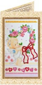 Набор - открытка для вышивки бисером Проказник Купидон