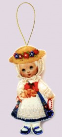 Набор для изготовления куклы из фетра для вышивки бисером Кукла. Германия