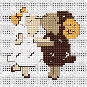 Набор для вышивки крестом Барашек и овечка, , 23.00грн., В039, Luca-S, Детские наборы для вышивки бисером и крестом