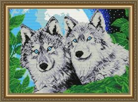 Набор для выкладки алмазной техникой Волки, , 400.00грн., АТ3001, Art Solo, Алмазная мозаика