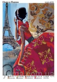 Схема вышивки бисером на атласе Окно в Париж