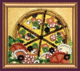 Набор - магнит для вышивки бисером Пицца
