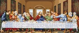Набор для вышивки крестом Тайная вечеря, , 2 148.00грн., В407, Luca-S, Большие наборы