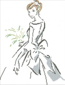 Схема вышивки бисером на атласе Девушка
