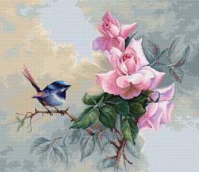 Набор для вышивки крестом Птичка