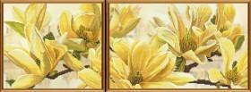 Набор для вышивки крестом Магнолия Баттерфляй, , 240.00грн., СВ6583, Новая Слобода (Нова слобода), Картины из нескольких частей