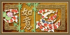Схема вышивки бисером на габардине Исполнение желаний, , 105.00грн., VKA3107, Art Solo, Схемы и наборы для вышивки бисером по Фен шуй
