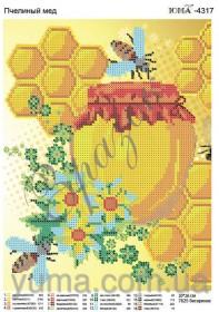 Схема вышивки бисером на атласе Пчелиный мед