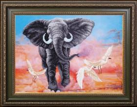 Набор для вышивки бисером Африканский слон