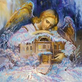 Схема вышивки бисером на холсте В объятиях ангела
