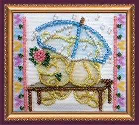 Набор - магнит для вышивки бисером Зонтик и цветок