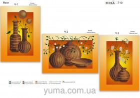 Схема для вышивки бисером на атласе Вазы (триптих), , 180.00грн., ЮМА-Т-10, Юма, Картины из нескольких частей