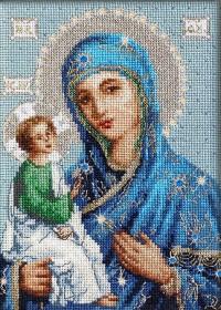 Набор для вышивки крестом Божья Матерь Иерусалимская, , 387.00грн., BR114, Luca-S, Наборы с пришивными камнями