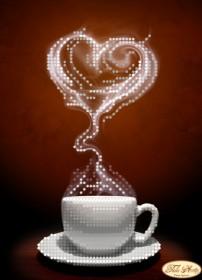 Схема вышивки бисером на атласе Любовный аромат
