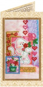 Набор - открытка для вышивки бисером Амурчик