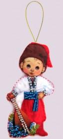 Набор для изготовления куклы из фетра для вышивки бисером Кукла. Украина-М