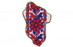 Набор - магнит для вышивки бисером Карта Украины Луганская область, , 56.00грн., АМК-012, Абрис Арт, Украина
