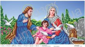 Схема вышивки бисером на атласе Святое семейство