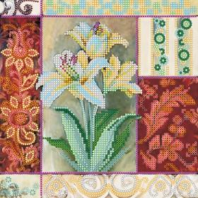 Схема вышивки бисером на холсте Королевские цветы