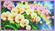 Набор для вышивки бисером Орхидеи в саду