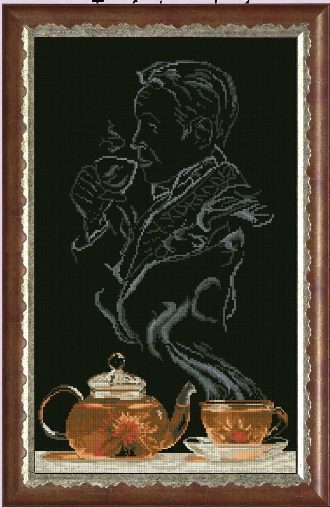 Вышивка крестом чайная фантазия