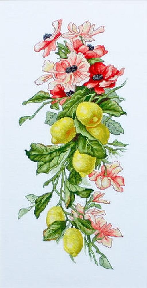 схема вышивки композиции с лимоном