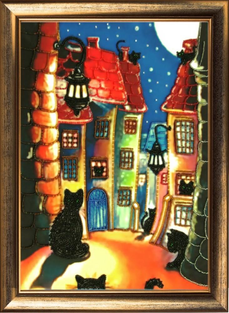 Ночной город бисером