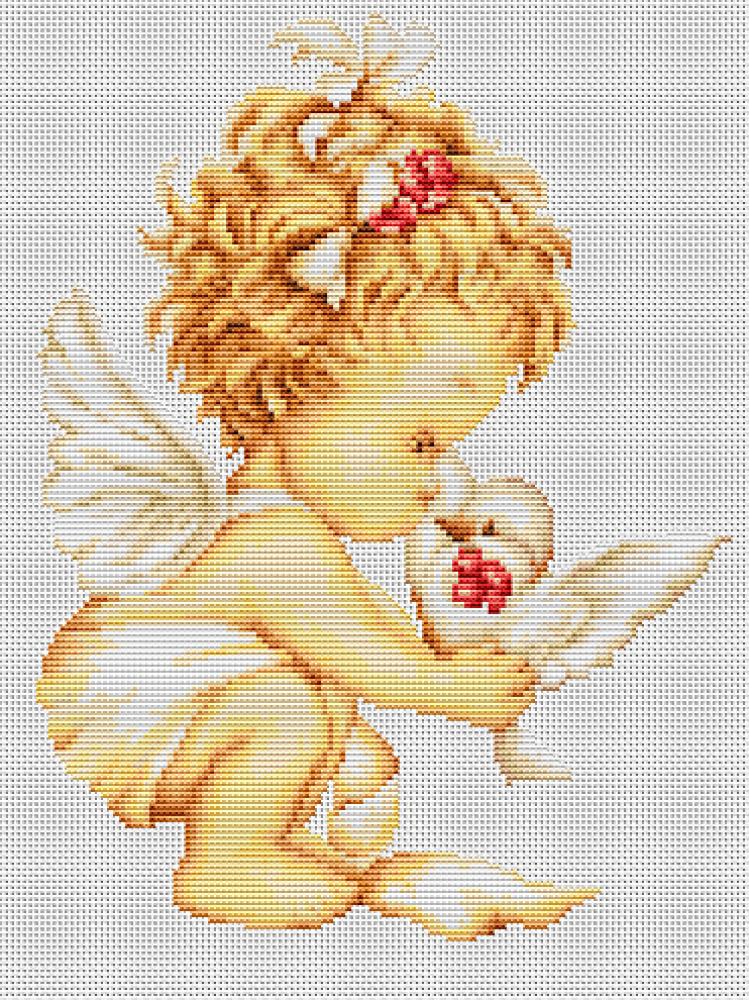 Вышивка ангелочек фото