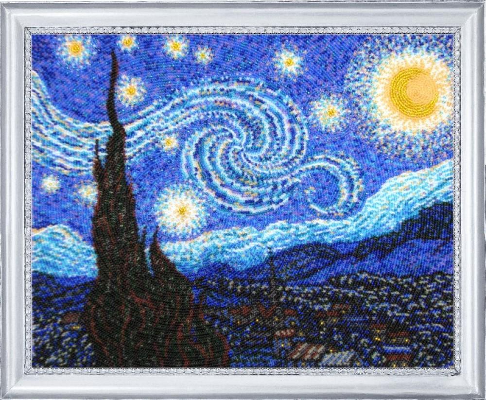 1088 Ван Гог «Звёздная ночь - Мир Вышивки 11