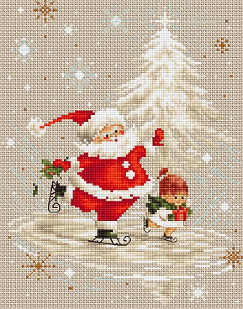 Картинки на новый год для вышивки