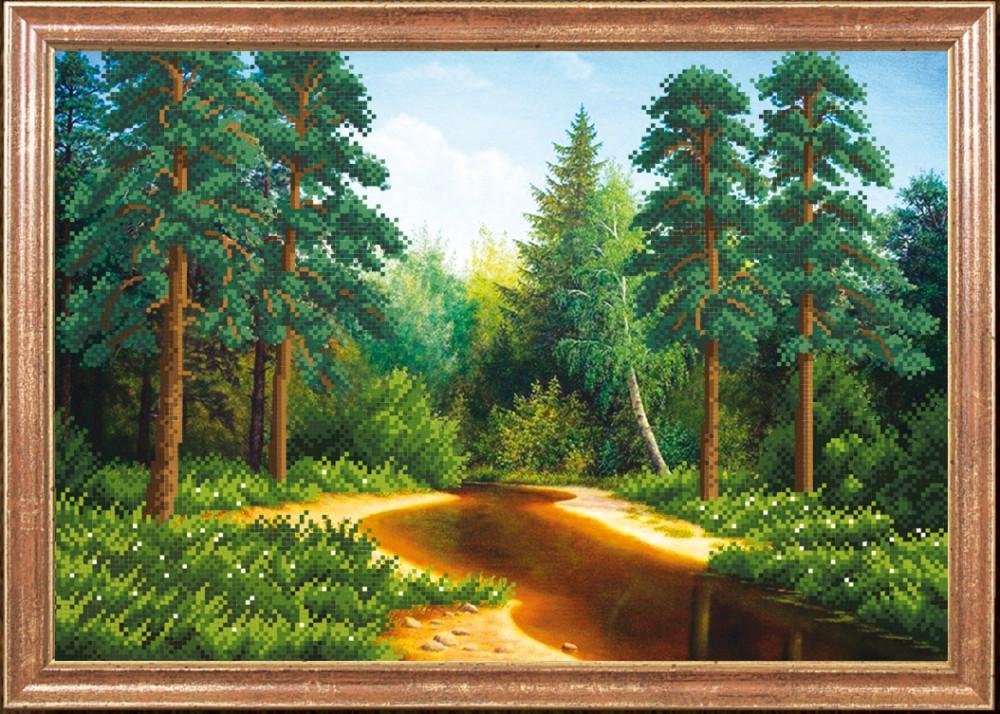 Вышивка пейзажи лес