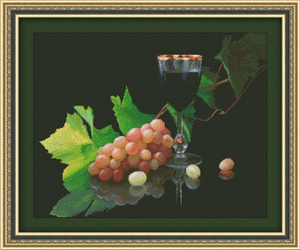 Вышивание винограда